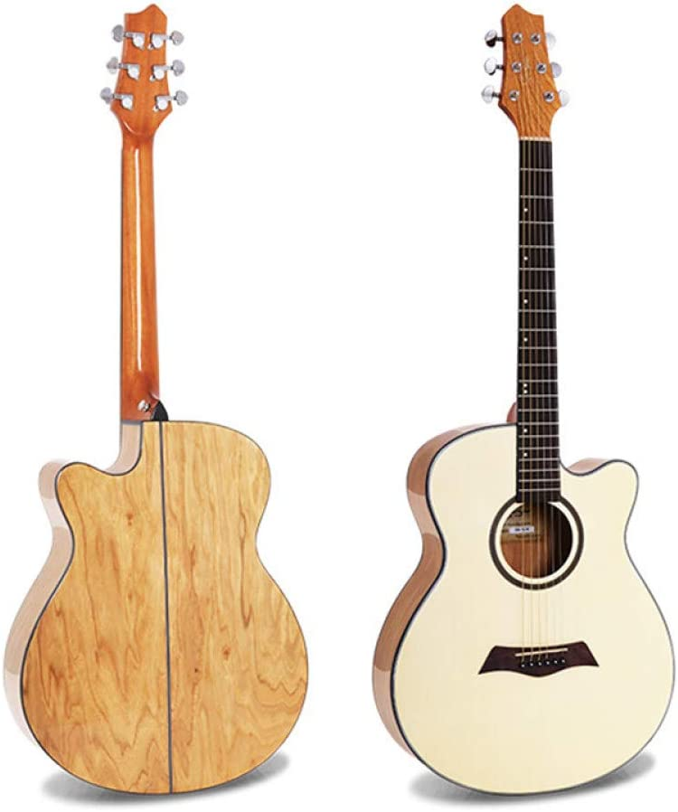 LOIKHGV Guitarras- Guitarra acústica con Cuerdas de Acero, 40 Pulgadas