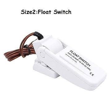 Festnight 12V 1100GPH Automatic Boat Bilge Pump Float Switch Bilge Switches Flow Sensor for Electric Water Pump