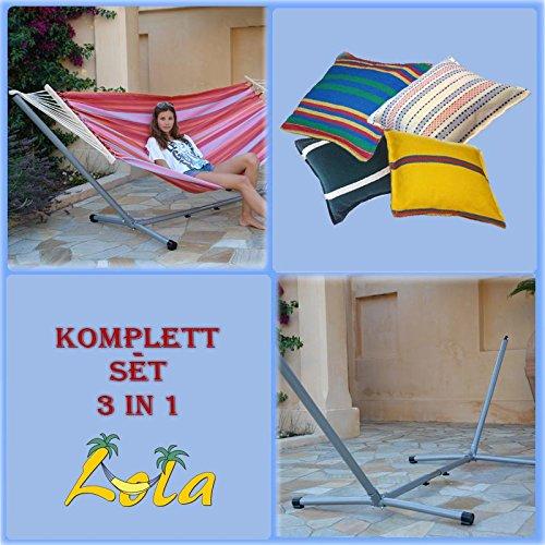 Lola Aruba cocktail Stabhängematte und Advant Vario silver ohne Rad 3in1 Set