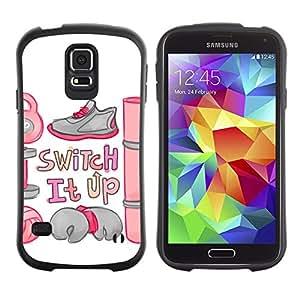 """Pulsar iFace Series Tpu silicona Carcasa Funda Case para Samsung Galaxy S5 , Cambie cita de motivación del entrenamiento camping"""""""