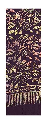 Batik Scarf - Purple, Multi Color Abstract