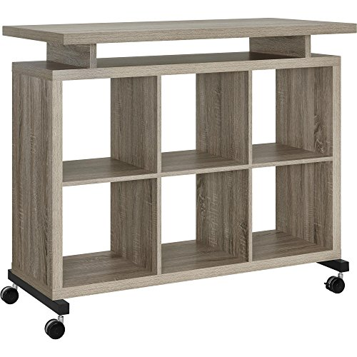 (Ameriwood Home Lincoln Multipurpose Standing Desk, Weathered Oak)
