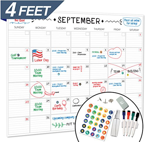Cheap  Large Dry Erase Wall Calendar - 36