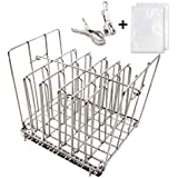 Sous Vide Rack Stainless Steel-Square 7.5 x 6.5 Inch- With Adjustable No-Float Top Bar, Collapsible Compact Design, Ensures Even And Quick Warming With Sous Vide Cooking, Fits Most 12qt Containers (Rack)