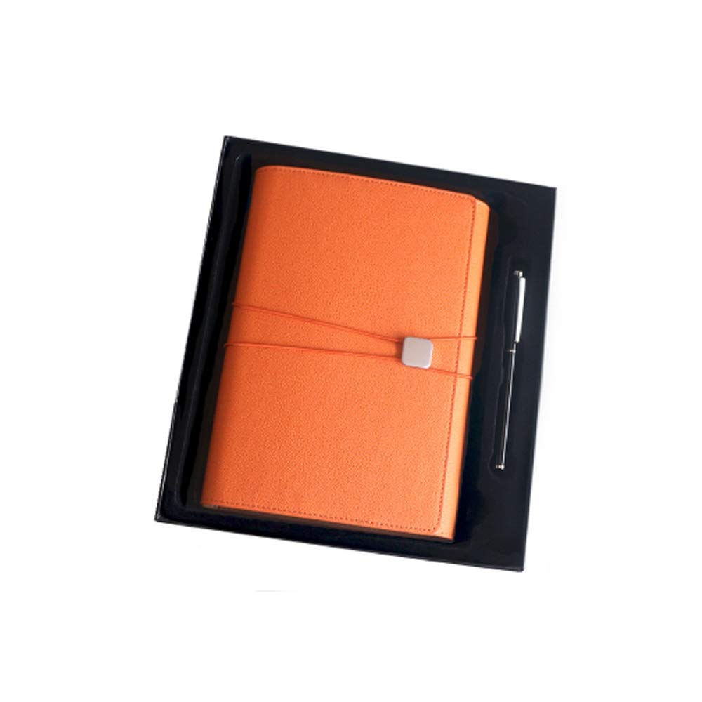 WUZHONGDIAN Notebook Magazine, Creative Simple Notebook, Multi-Functional Notepad, Gifts - Diary Notes Diary and Plan - Gift Box / 90 Pieces Office Supplies ( Color : Orange ) by WUZHONGDIAN