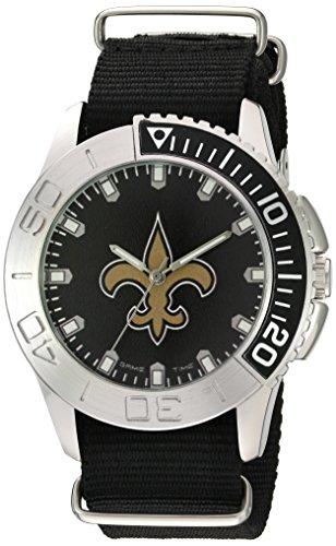 Game Time Men's 'Starter'  Metal and Nylon Quartz Analog  Watch, Color:Black (Model: NFL-STA-NO) -