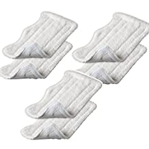 Amariver Microfiber Replacement Pads for Shark Steam Euro-Pro Mop (Set of 6)