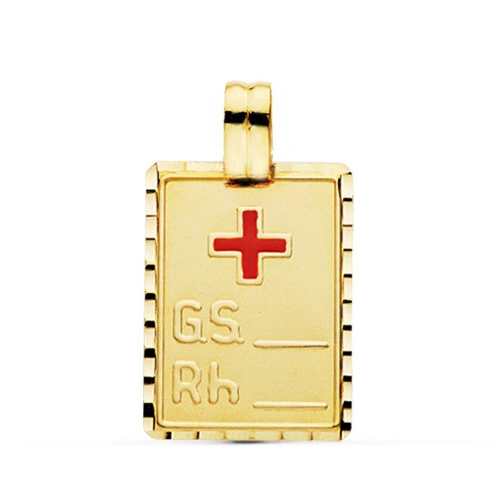 Formulaires Liso Center M/édaille pendentif Vierge Fille 9K Or 23mm ovale Cerco Calado personnalisable enregistrement inclus dans le prix