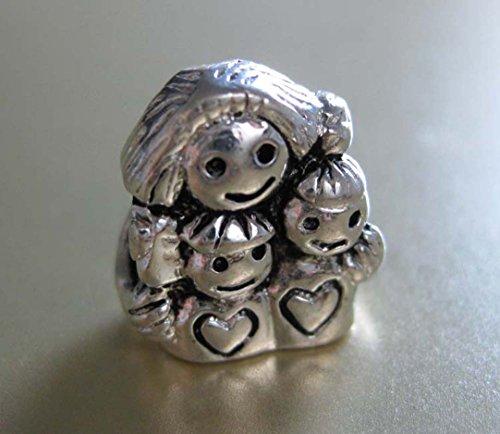 J. Jewelry Mom & Kids Charm Bead Fit for Pandora Bracelet