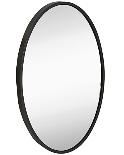 Amazon.com: Hamilton Hills Clean Large Modern Black Oval Frame Wall ...