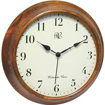 Amazon Com River City Clocks 15 Inch Wood Wall Clock With