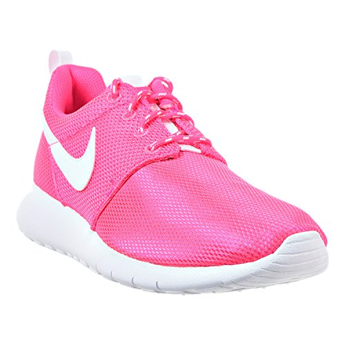 Nike Roshe Run, Chaussures de running fille Hyper Pink/White