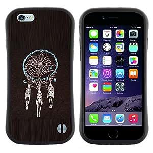 "Pulsar iFace Series Tpu silicona Carcasa Funda Case para Apple iPhone 6+ Plus / 6S+ Plus (5.5 inch!!!) , Colector ideal Esqueleto Negro Araña"""