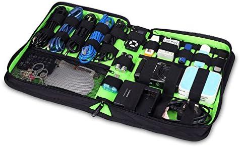 BUBM Electronics Accesorios Organizador de viaje Cables Bolsa USB para el cable USB Tarjeta de memoria Cable de alimentación Almacenamiento de batería Mobile Disk Organizador de viajes- Grande & Negro: Amazon.es: Electrónica