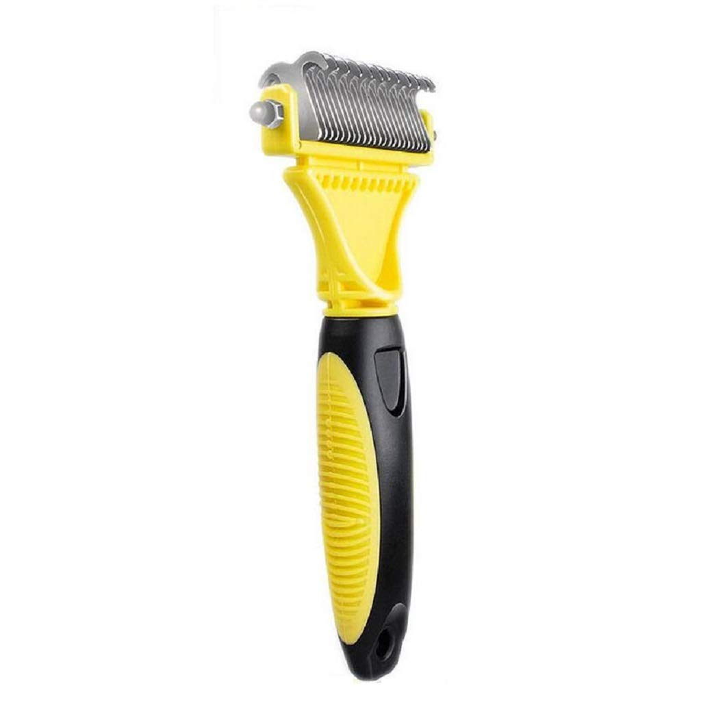 Whryspa Pet Undercoat Rake, Professional Pet Dematting Comb Grooming Stripping Tool Dogs and Cats