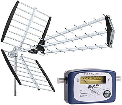 Hd-Line - antena TNT con puntero terrestre 18 db: Amazon.es ...