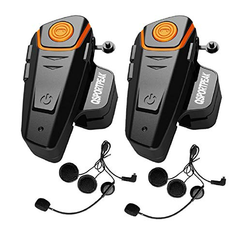 ENCHICAS BT-S3-2x Intercom Moto Duo pour 2 Casques Bluetooth Kit Main Libre Headphones Int/égrable au Casque Moto /& Ski