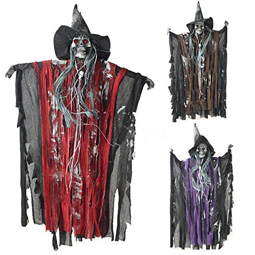 TONGROU Halloween Prop Hanging Ghost Witch Scary Haunted House Bar Party Home Decoration