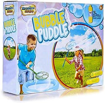 KreativeKraft Kit De Burbujas Gigantes Juegos Al Aire Libre con 4 Varitas, Pompas de Jabón Jardín Solución de 1 Litro, con Pegatinas Enormes Burbujas, Regalos para Niños Niñas 5 Años: Amazon.es: Juguetes