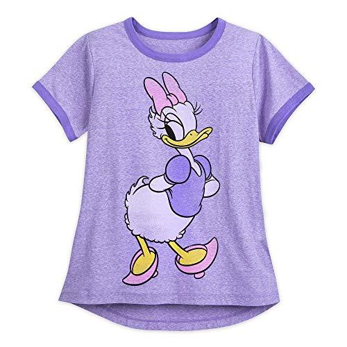 Disney Daisy Duck Ringer T-Shirt for Women Size Ladies L Multi