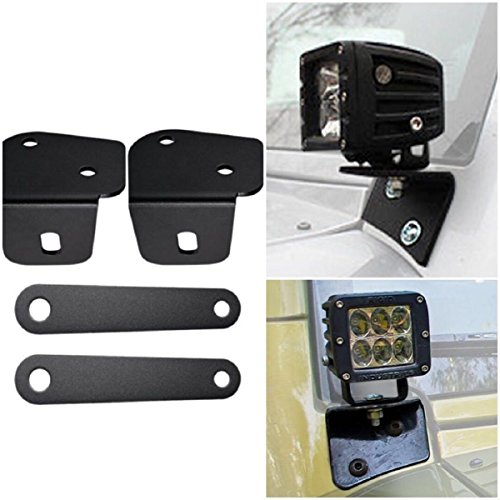ICars Lower Windshield Jeep JK Light Mounts
