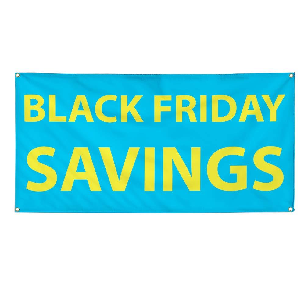 CGSignLab Black Friday Blowout 8x3 5-Pack Modern Gradient Premium Brushed Aluminum Sign