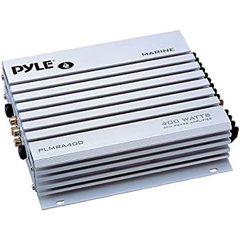 Pyle Hydra Marine Amplifier - Upgraded Elite Series 400 Watt 4 Channel Audio Amplifier - Waterproof,  Dual MOSFET Power Supply, GAIN Level Controls, RCA Stereo Input & LED Indicator (PLMRA400)