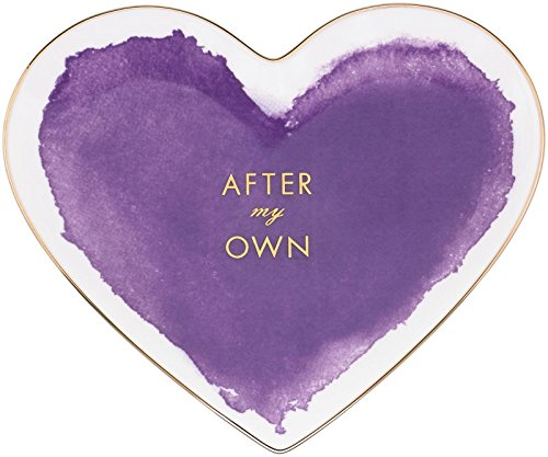 kate spade new york Posy Court Heart Dish – Purple