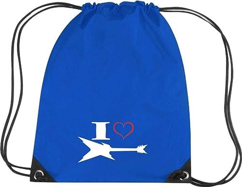 Camiseta stown Premium gymsac Música I Love - Guitarra eléctrica, azul cobalto: Amazon.es: Deportes y aire libre