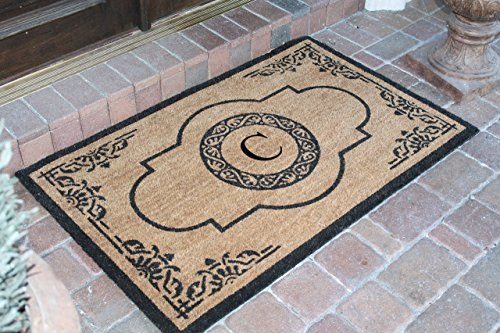 A1 Home Collections PT4007C First Impression Hand Crafted Abrilina Entry Monogrammed Doormat, Double, 30