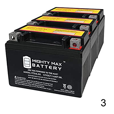 Mighty Max Battery YTX4L-BS Replaces AEON (BENZAI) Cobra/CX-Sport 50CC All Years - 3 Pack Brand Product : Sports & Outdoors