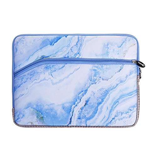 COSMOS Neoprene Protective Laptop Notebook Sleeve Case Bag for Old MacBook Pro 13 / MacBook Air 13/ Old MacBook Pro Retina Display 13 (White Blue Marble Pattern)