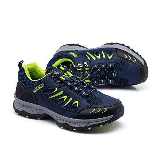 Hommes Pour de Randonnée Vert Randonnée Pour dérapant Anti Chaussures Chaussures Chaussures en EU Supshark Hommes 44 épaisses Maille Plein air de Bleu Respirant Respirante à Semelles E1xYw5qC