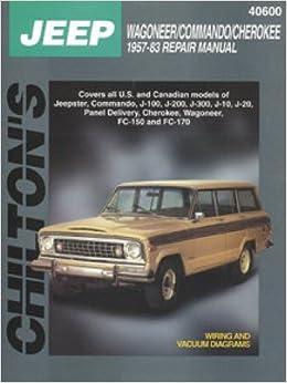 Book CH40600 Jeep Wagoneer Commando Cherokee 1957-1983 Chilton Repair Manual