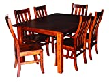 Aspen Tree Interiors Amish Made 9 Piece Solid Wood Cherry Kitchen Dining Room Table for 6 Set - Heirloom Furniture for  the  Holidays and Everyday, White Glove Delivery, 2 Leaves