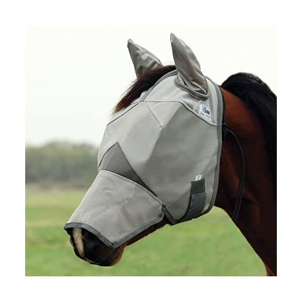 Cashel Crusader Horse Fly Mask, Long Nose with Ears 1