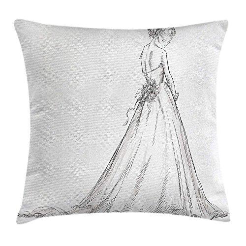 UY&SOQ Bridal Throw Pillow Cushion Cover, Fairytale Ending