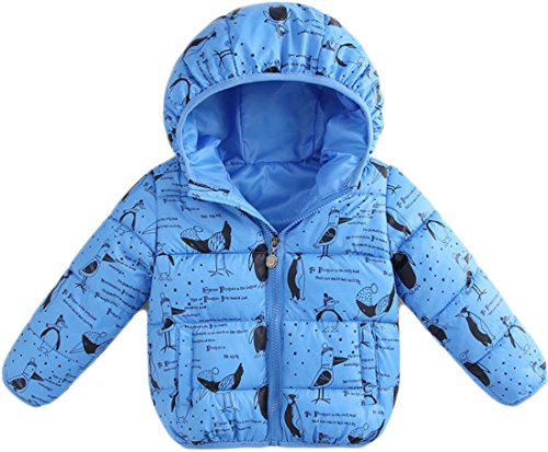 Quilted 1 M Jacket Hoodies amp;S Boy's Coats Zip Warm amp;W Girl's Printing wB4gSPq0