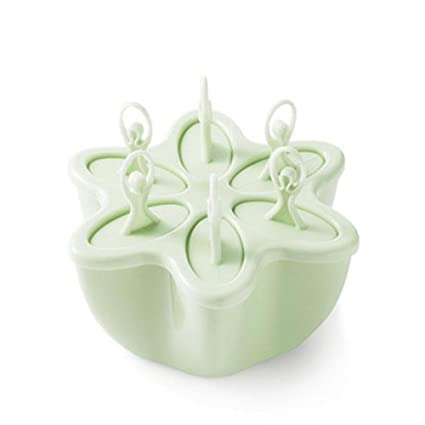 Juego de moldes de crema de hielo con forma de flor creativa para casas, mini
