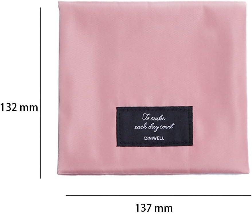 Guangzhou Femmes Fille Tampon Sac de Rangement Grille Dot Tampon sanitaire Pochette Serviette Serviette cosm/étique Serviette hygi/énique Sac A #