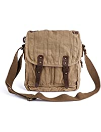 Vintage Canvas Messenger Bag Small Unisex Shoulder Satchel