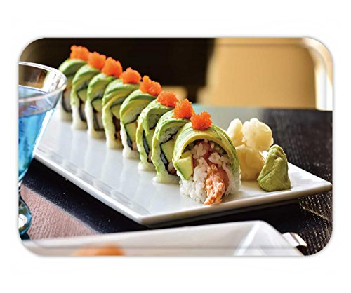 (Beshowere Doormat dragon roll sushi roll american style shrimp tempura cucumber crab stick wrapped with acovado)