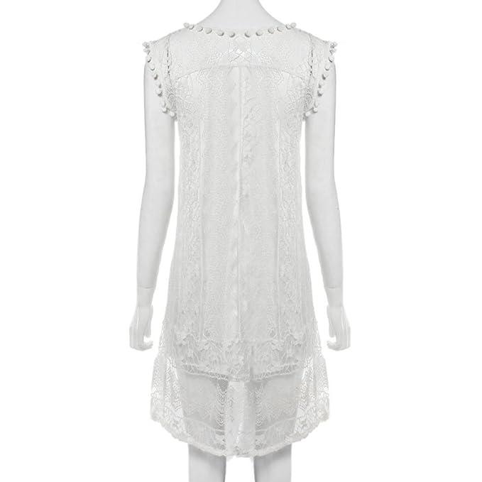 QingJiu Womens Round-Neck Printed Sleeveless a-line Dress Temperament Type Party Dress