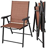 Quality Chairs - Set of 2 Patio Chairs - Patio Garden Folding Outdoor Chair - Camping Beach Pool Lounge Deck Yard Lawn Garden Furniture Set - Folding Save Spaces - Relax Chill Out - Durable Convenient