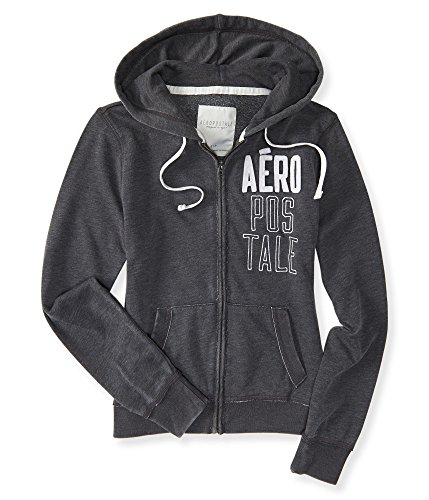 Aeropostale Women's Aero Stacked Full-Zip Hoodie