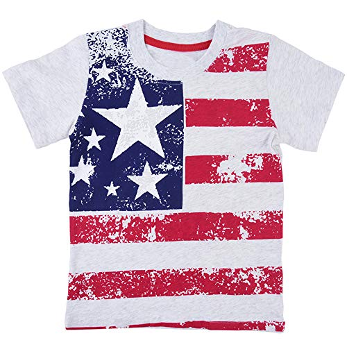 (Infant Baby American Flag Printed Short Sleeve Shirts Novelty Pattern Cotton T-Shirt Tops Tee 2 3 T)