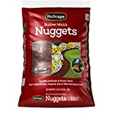 International Mulch NS8RD Ground Cover, Rubber Nuggets, Red, 0.8-Cu. Ft. - Quantity 130