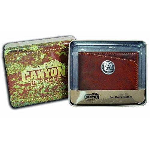 Canyon Outback Bi-fold Brown Wallet-Auburn Tigers