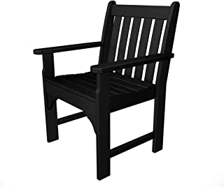 product image for POLYWOOD Vineyard Arm Chair, Black