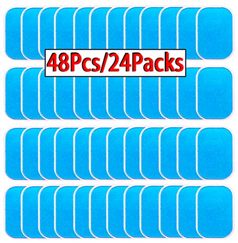 OHYAIAYN 48pcs Gel Sheets for Gel Pad, Abs Trainer Replacement Gel Sheet Abdominal Toning Belt Muscle Toner Ab Trainer Accessories (2pcs/Packs, 24packs/Box) ()